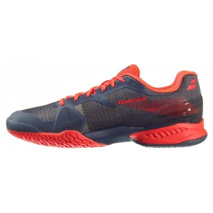 Buty tenisowe Babolat JET Clay szaro-czerwone