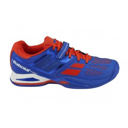 Buty tenisowe Propulse Clay niebiesko-czerwone