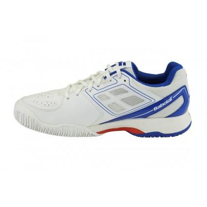 Buty tenisowe Babolat Pulsion AC biało-niebieski