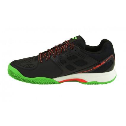 Buty tenisowe Babolat Pulsion Clay czarno-zielone