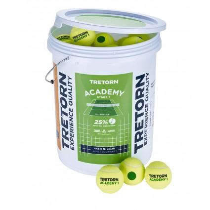 Piłki ST1 Tretorn ACADEMY GREEN (wiadro 72 szt.)