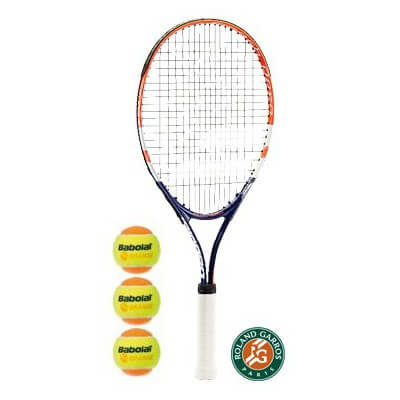 Komplet: Babolat RG/FO Jr25 + 3 piłki Orange