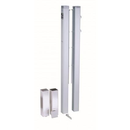Słupki do siatki - 83 mm - kwadratowe - aluminium