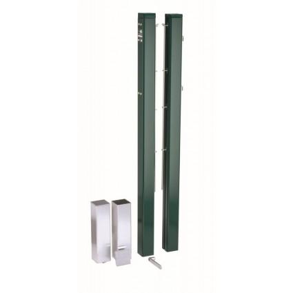 Słupki do siatki - 83 mm - kwadratowe - zielone