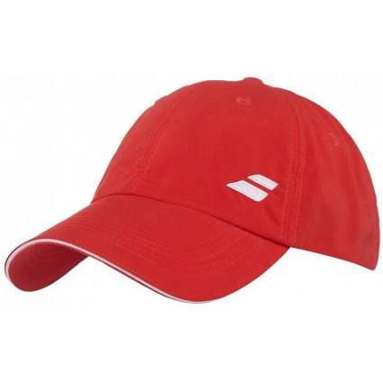 Czapka tenisowa JR z logo Babolat 2018, czerwony