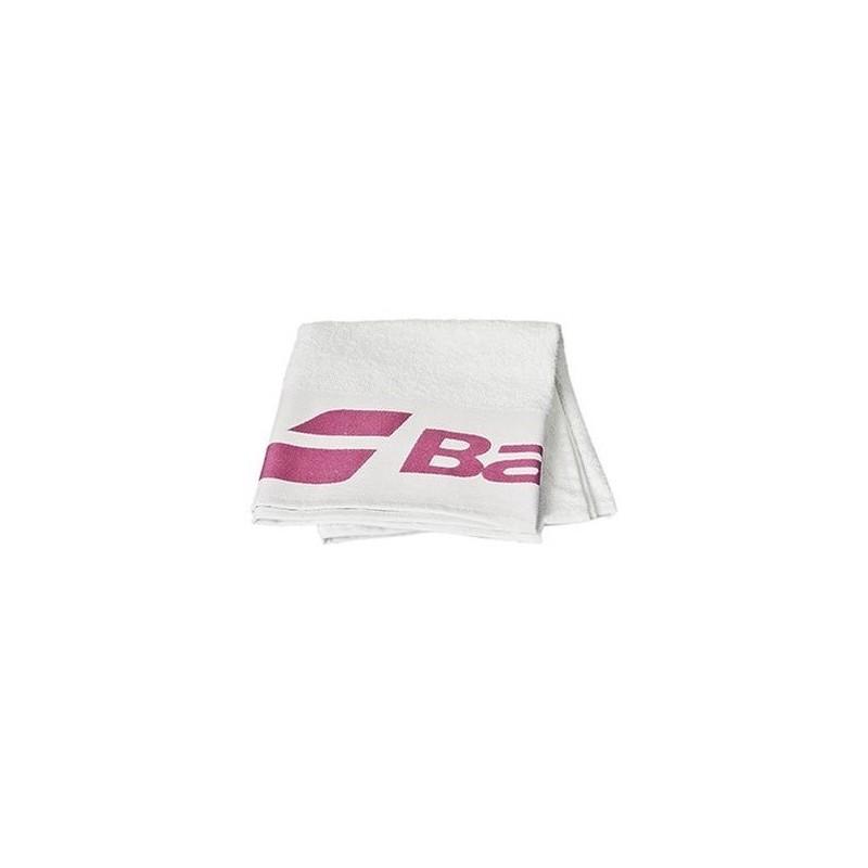Ręcznik tenisowy Babolat - biało-różowy