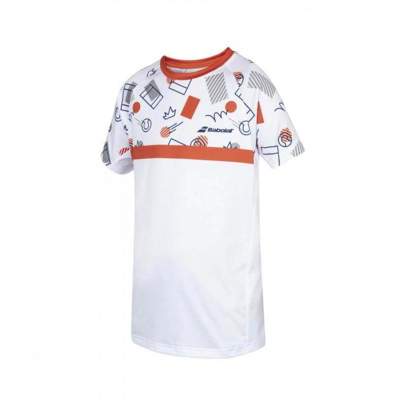 T-shirt Babolat COMP 2020 Boy, biały