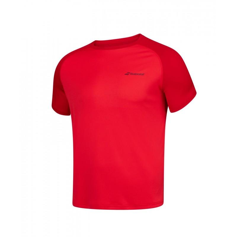 T-shirt Babolat PLAY Boy, czerwony