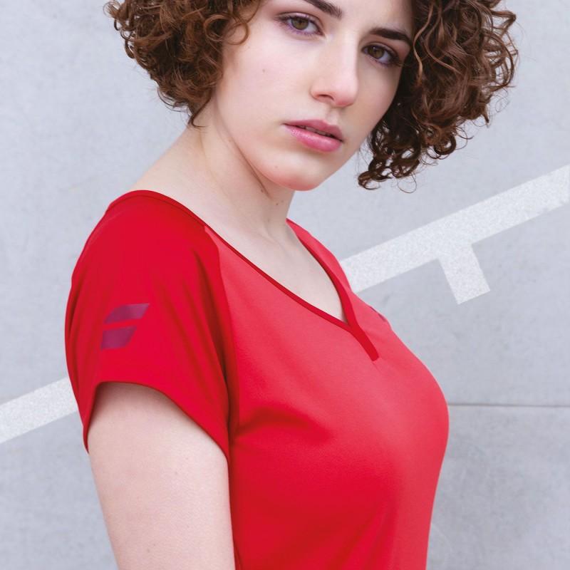 T-shirt Babolat PLAY W, czerwony