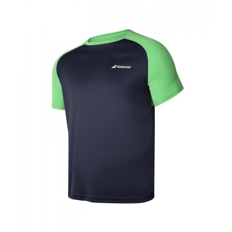 T-shirt Babolat PLAY M, czarno-zielony