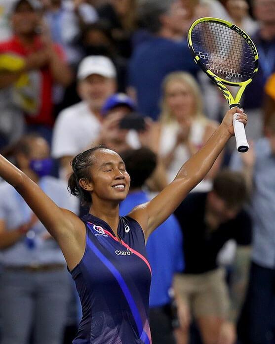 Leylah Fernandez podczas US Open 2021