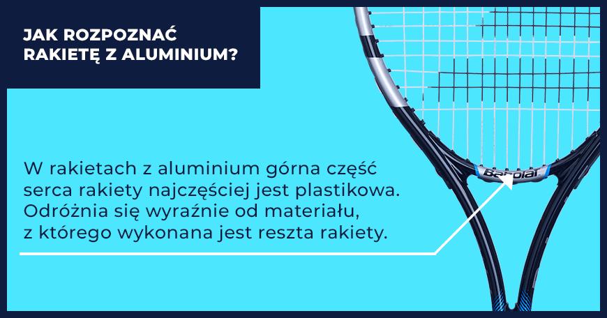 Infografika: jak rozpoznać rakietę tenisową z aluminium