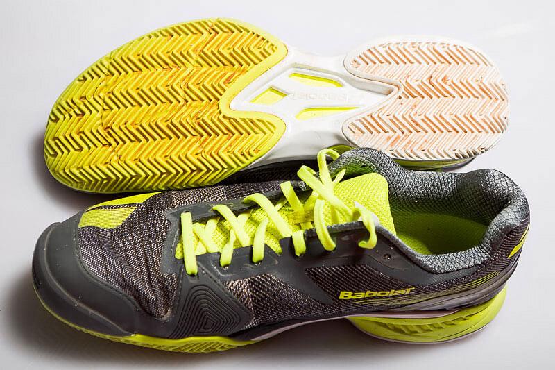 Na zdjęciu: Buty do tenisa Babolat JET po pół roku użytkowania