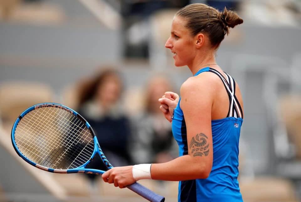 Karolina Pliskova używa hybrydowej kombinacji RPM Team + VS