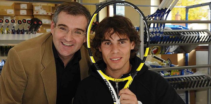Rafael Nadal, Eric Babolat i rakieta Aeropro Drive