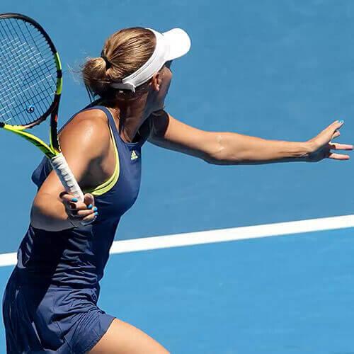 Karolina Woźniacki w trakcie zwycięskiego Australian Open 2018