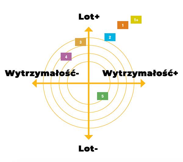 Infografika - lotki piórowe Babolat
