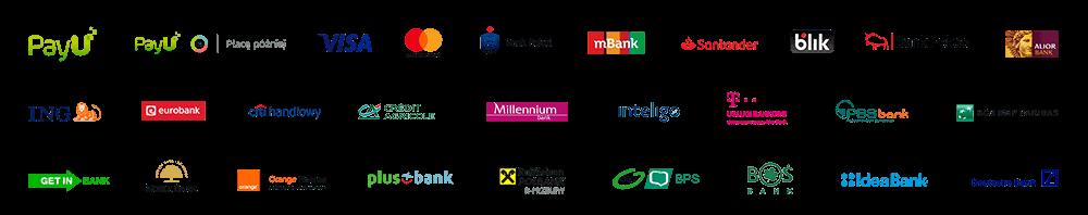 Metody płatności obsługiwane przez PayU