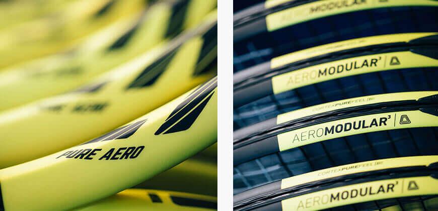 Klasyczna dla rakiet Pure Aero aerodynamiczna rama